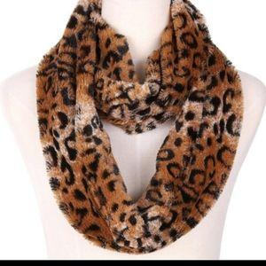 Leopard Faux Fur Infinity Scarf